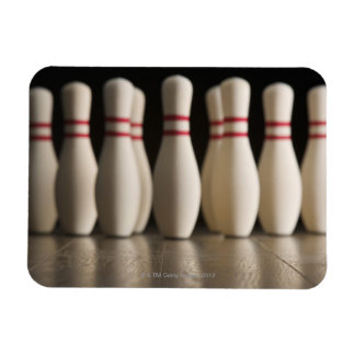 Bowling Pins Rectangle Magnet