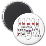 Bowling Pins Refrigerator Magnet