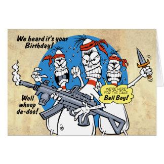 Bowling Pins Revenge Birthday Card