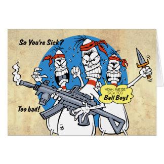 Bowling Pins Revenge Get Well Card