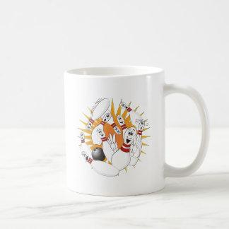 Bowling Pins Strike Cartoon Coffee Mug