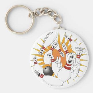 Bowling Pins Strike Cartoon Keychain