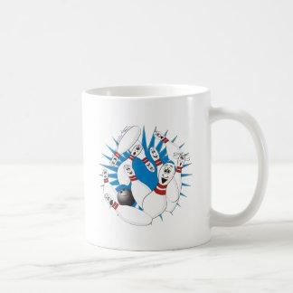 Bowling Pins Strike Cartoon no Hands Coffee Mug