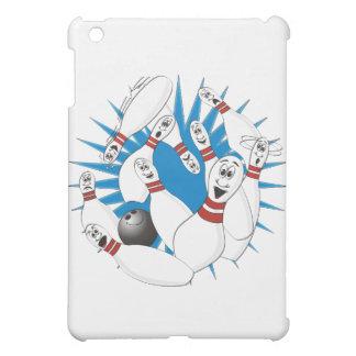 Bowling Pins Strike Cartoon no Hands iPad Mini Cover