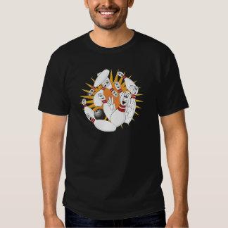Bowling Pins Strike Cartoon T Shirt
