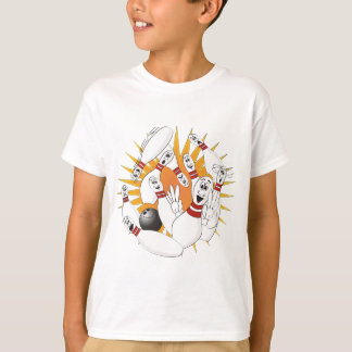 Bowling Pins Strike Cartoon T-Shirt