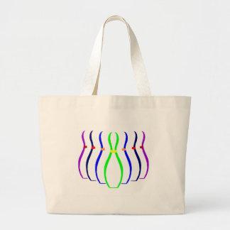 Bowling Pins T-shirts and Gifts. Large Tote Bag