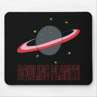 Bowling Planet Mouse Pad