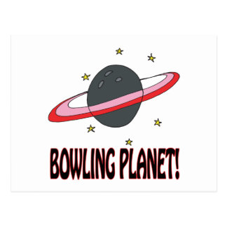 Bowling Planet Post Card