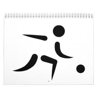 Bowling player icon calendar