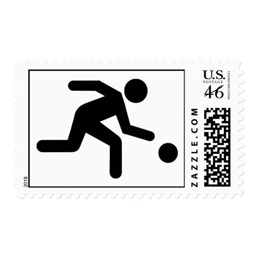 Bowling player stamps