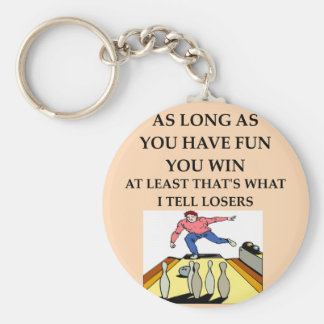 BOWLING.png Basic Round Button Keychain