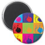 Bowling Pop Art Magnets