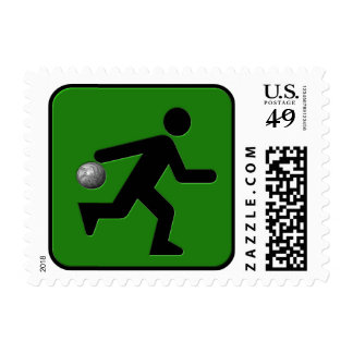 Bowling Postage Stamp