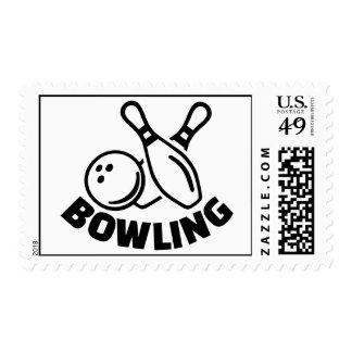 Bowling Postage Stamp
