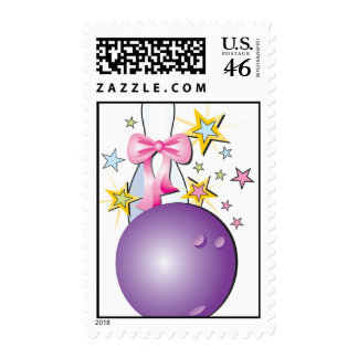 Bowling Princess Bowling Queen Postage Stamps
