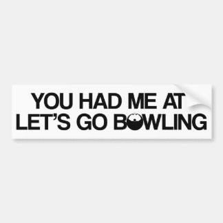 Bowling Products Car Bumper Sticker