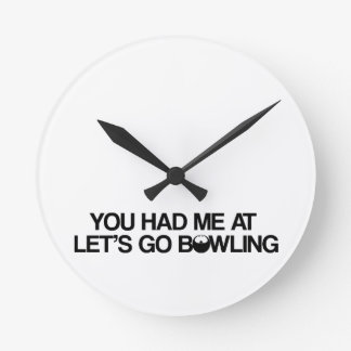 Bowling Products Round Clock