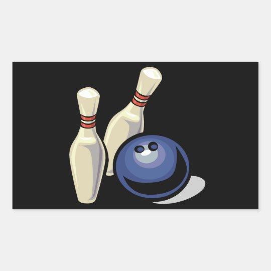 Bowling Rectangular Sticker