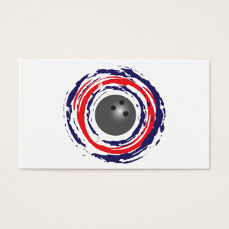 Bowling Red Blue And White Business Card