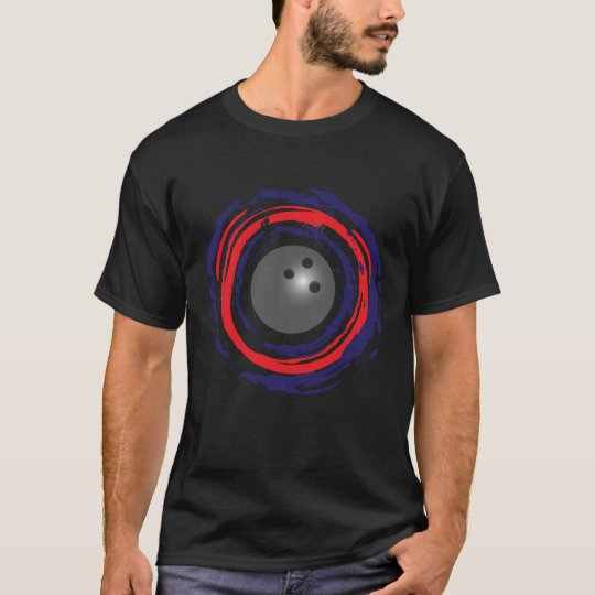 Bowling Red Blue And White T-Shirt