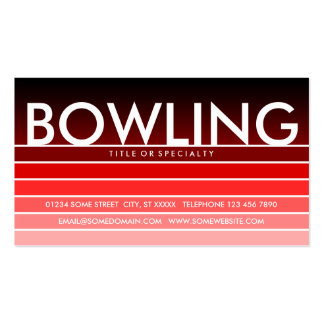 BOWLING red swatch Double-Sided Standard Business Cards (Pack Of 100)