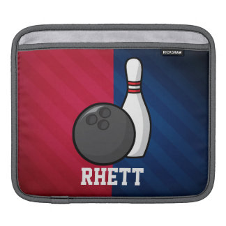 Bowling; Red, White, and Blue iPad Sleeve