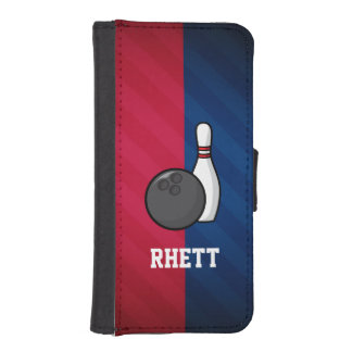 Bowling; Red, White, and Blue iPhone SE/5/5s Wallet
