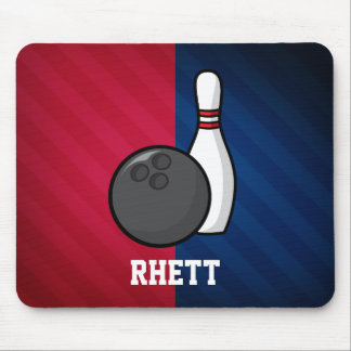 Bowling; Red, White, and Blue Mouse Pad