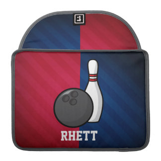 Bowling; Red, White, and Blue Sleeve For MacBooks