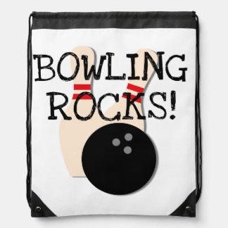 Bowling Rocks Drawstring Bag