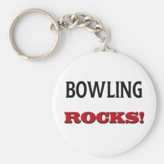 Bowling Rocks Keychain