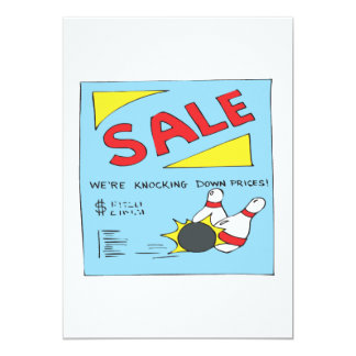 Bowling Sale Card