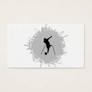 Bowling Scribble Style Business Card