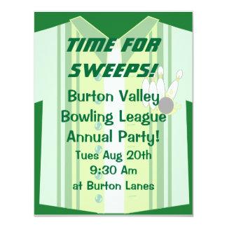 Bowling Shirt Party Card