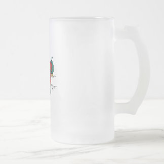 Bowling Shoes 16 Oz Frosted Glass Beer Mug