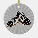 bowling shoes cartoon graphic christmas ornaments