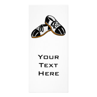 bowling shoes cartoon graphic rack card