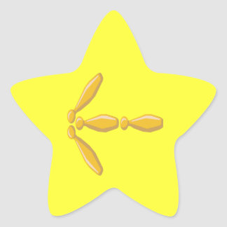 Bowling Sign Star Sticker