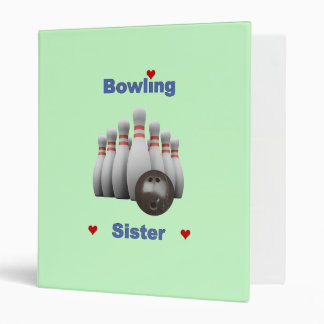 Bowling Sister Hearts Binder