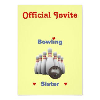 Bowling Sister Hearts Card