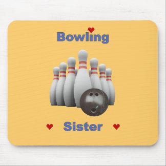 Bowling Sister Hearts Mouse Pad