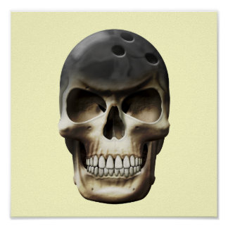 Bowling Skull Posters