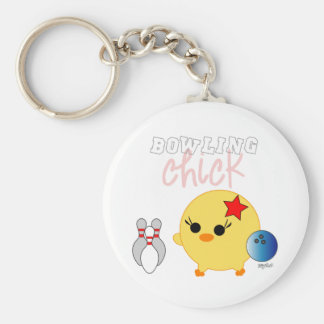 Bowling Soychick Basic Round Button Keychain