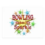 Bowling Sparkles Postcards