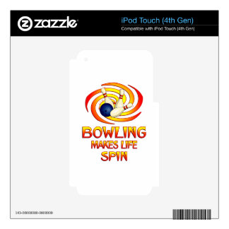 Bowling Spins iPod Touch 4G Skins