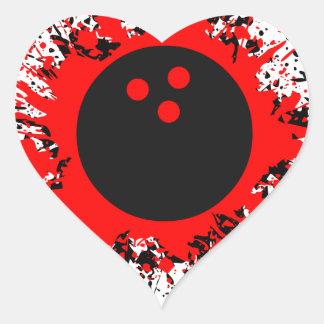 bowling splats heart sticker