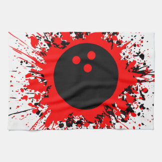 bowling splats kitchen towel