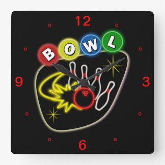 Bowling Square Clock