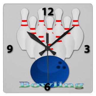 Bowling Square Wall Clock